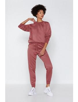Breathe Easy Jogger Pants And Sweatshirt Set by Nasty Gal