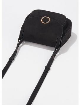 Black Micro Saddle Bag by Miss Selfridge
