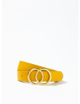 Ochre Circle Jeans Belt by Miss Selfridge