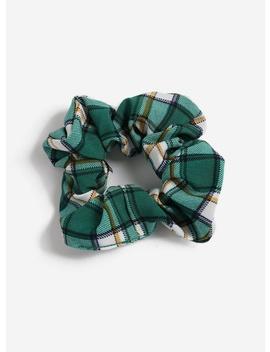 Green Check Scrunchie by Miss Selfridge