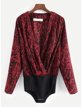 Leopard Print Bodysuit by Sheinside