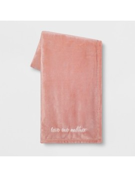 'love One Another' Plush Throw Blanket Pink by Shop This Collection