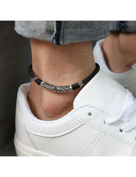 Men Women Trendy Leather Rope Anklet Bracelet Barefoot Sandal Beach Foot Chain by Unbranded
