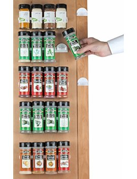 Spice Rack 36 Spice Gripper  Spice Racks Strips Cabinet Cabinet Door   Use Spice Clips For Spice Organizer   Stick Or Screw Spice Storage Spice Clips by Sagler