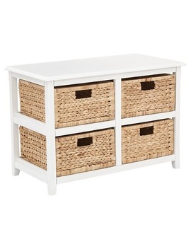 Seabrook Four Double Storage Unit   White   Office Star Products by Office Star