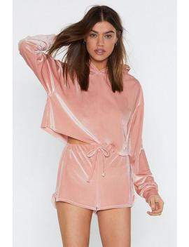 Fool For You Velour Hoodie by Nasty Gal
