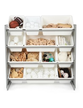 Tot Tutors Inspire Toy Organizer White/Gray by Tot Tutors