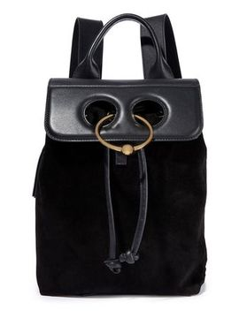 Pierce Leather And Suede Backpack by J.W.Anderson