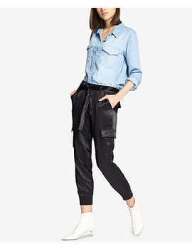 Precious Cargo Satin Jogger Pants by Sanctuary