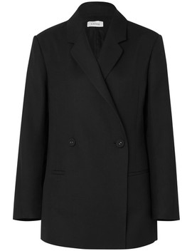 Loreo Oversized Double Breasted Cady Blazer by Totême