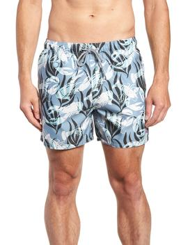 Yalow Slim Fit Lobster Swim Trunks by Ted Baker London