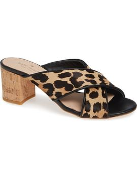 Genuine Calf Hair Slide Sandal by Kate Spade New York