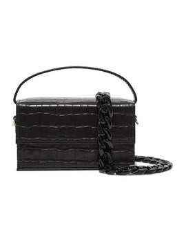Ida Croc Effect Leather Clutch by L'afshar