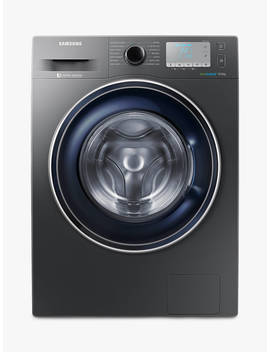 Samsung Ww90 J5456 Fc Ecobubble™  Freestanding Washing Machine, 9kg Load, A+++ Energy Rating, 1400rpm Spin, Grey by Samsung Ww90 J5456 Fc Ecobubble