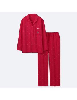 Damen LangÄrmliger Soft Stretch Pyjama Sanrio Characters Mit Sternmotiv by Uniqlo