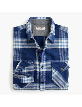 Wallace & Barnes Heavyweight Flannel Shirt In Vista Plaid by J.Crew