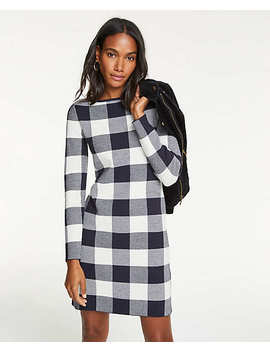 Petite Buffalo Plaid Sweater Dress by Ann Taylor