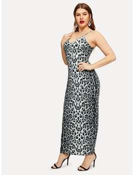 Plus Form Fitting Leopard Print Cami Dress by Shein