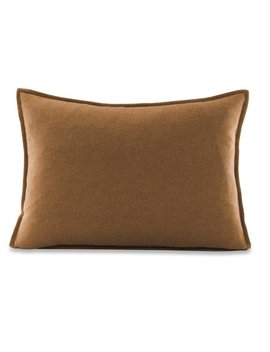 """Better Homes & Gardens Feather Filled Solid Faux Wool Decorative Throw Pillow, 14"""" X 20"""", Fawn by Better Homes & Gardens"""
