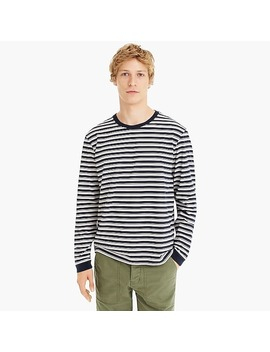 J.Crew Always 1994 Long Sleeve T Shirt In Athletic Stripe by J.Crew