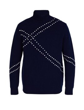Stitched Roll Neck Wool Sweater by Raf Simons