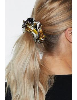Missing Link Satin Scrunchie by Nasty Gal