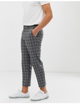 Asos Design Tapered Pants In Gray Check by Asos Design
