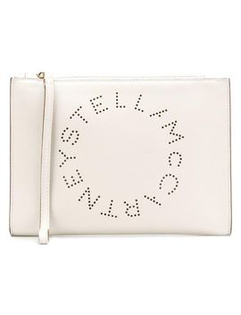 Women's White Stella Logo Pouch by Stella Mc Cartney