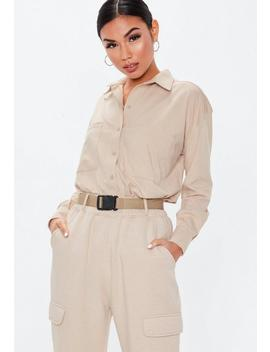 Sand Pocket Detail Shirt by Missguided