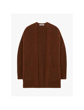 Gerard Darel Camelia Wool Blend Cardigan, Brown by Gerard Darel