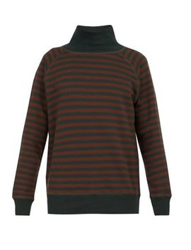 Delo Striped Cotton Sweatshirt by The Gigi