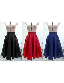 Midi Skirt / Womens Skirts  / Circle Skirt / High Waisted Skirt / Midi Skirt Women / Skirt / Vintage Style Skirt / Cotton Skirt by Etsy
