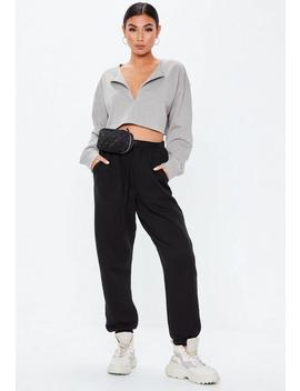 Gray Zip Inserted Sweatshirt by Missguided