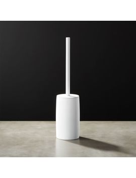 White Rubber Coated Toilet Brush by Crate&Barrel