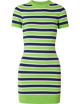 Striped Stretch Cotton Blend Mini Dress by Joos Tricot