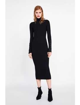 DŁuga Sukienka Z Dzianiny W PrĄŻki  Najnowszekobieta New Collection by Zara