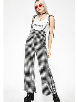Over You Gingham Jumpsuit by Newbury Kustom