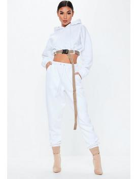 White Oversized 90s Joggers by Missguided