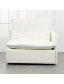 Lumin White Linen Armless Chair by Crate&Barrel