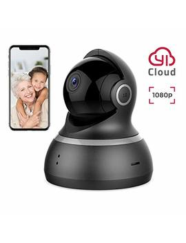 Yi Dome Camera 1080p Hd Pan/Tilt/Zoom Wireless Ip Security Surveillance System Night Vision Cloud Service Available by Yi