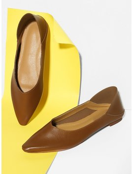 Plain Slip On Flats by Shein