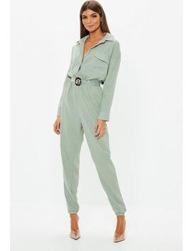 Green Utility Jumpsuit by Missguided