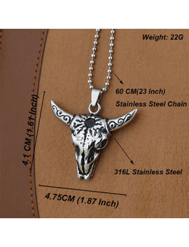 316 L Stainless Steel Fashion Silver Men's Punk Biker Chain Necklaces & Pendants by Unbranded