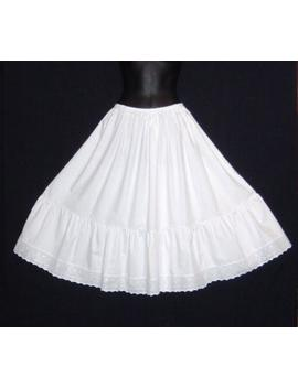 """Plus Size Length 23"""" 27"""" Vintage Style White Cotton Petticoat / Steampunk Longer Lengths Also Available U.K. Size 20 30 by Etsy"""