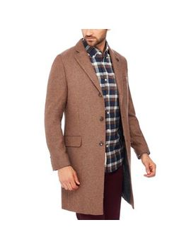 Racing Green   Tan Wool Blend 'cheltenham' Epsom Coat by Racing Green