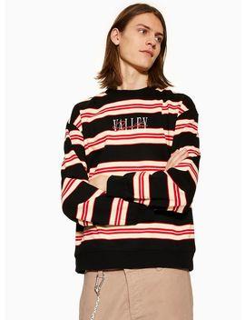 Black And Ecru Stripe 'valley' Sweatshirt by Topman