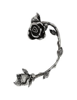 Gunmetal Rose Earring by Alexander Mcqueen