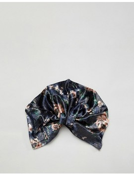 Asos Design Shimmer Floral Knot Front Hat by Asos Design