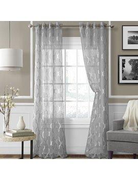 Willa Arlo Interiors Halsey Geometric Sheer Grommet Single Curtain Panel & Reviews by Willa Arlo Interiors