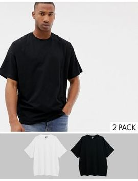 Asos Design Oversized T Shirt With Crew Neck 2 Pack Save by Asos Design